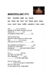 English Worksheets: Beautiful day (U2 song)