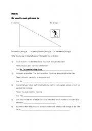 English Worksheet: Habits -