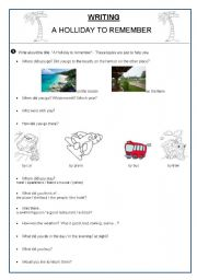 English Worksheets: A Holliday to remember