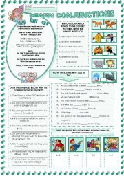 English Worksheets: LEARNING  CONJUNCTIONS