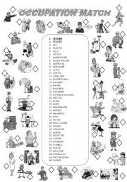 English worksheet: OCCUPATIONS 1/2
