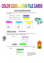 color code latin file cards grammar guide using color codes to mark ...