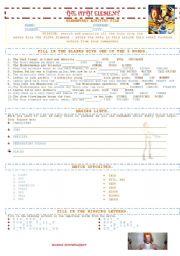 English Worksheets: The 5th Element - elementary worksheet