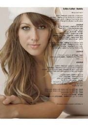English Worksheet: Present Simple: Multiple choice exercise - song: �BUBBLY� COLBIE CAILLAT (2 pages)