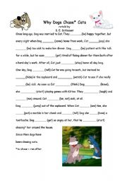 English worksheet: Why Dogs Chase Cats