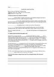 English Worksheets: �Stand by Me� audiovisual worksheet