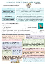English Worksheets: ASK ME NO QUESTIONS AND HEAR NO LIES.