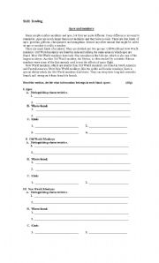 English Worksheets: Apes and Monkeys  -  Snakes