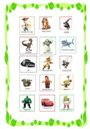 English Worksheet: Reward stickers for boys