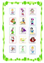English Worksheet: Reward stickers for girls