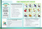 English Worksheets: THE PREDICATE NOUN