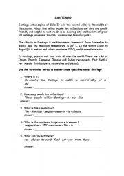 English Worksheets: Santiago of Chile