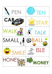 English Worksheets: MEMORY GAME - Flash cards - Part 3