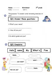 English Worksheets: different execises for kids