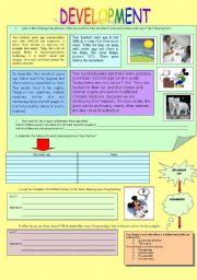 English Worksheets: READING_DEVELOPMENT_2PAGES