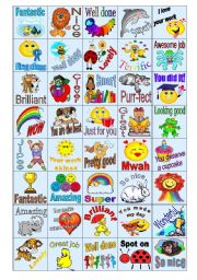 English Worksheet: 40 Rewards Stickers