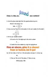 English Worksheets: Step to Follow When Rounding