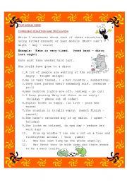 English Worksheet: Past modals verbs