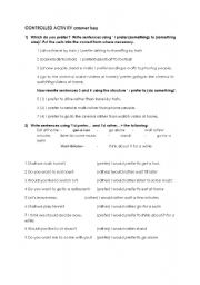 English Worksheet: expressing preferences worksheet
