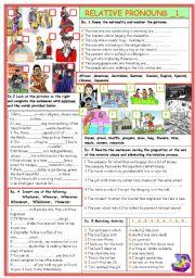 English Worksheet: Relative Pronouns  (1)