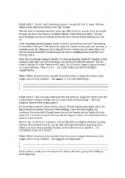 English Worksheets: Dear Abby WS/Activity (Modal Verbs - Probability)