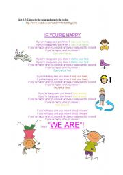 English Worksheets: IF YOU ARE HAPPY