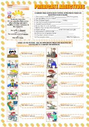 Worksheets Predicate Adjective Worksheet worksheet predicate adjectives english adjectives