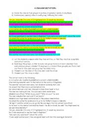 English Worksheet: Jigsaw dictation