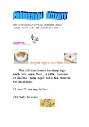 English worksheet: DELICIOUS DESSERTS