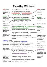 timothy winters annotated poem charles causley esl worksheet by itchy10. Black Bedroom Furniture Sets. Home Design Ideas