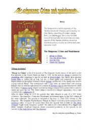 English Worksheet: Crime and punishment (the simpsons)
