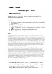 English Worksheets: 4 skills activities