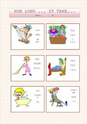 English Worksheets: HOW LONG ... IT TAKE ... TO ...?