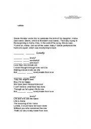 English Worksheets: Isn�t She Lovely?