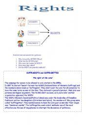English Worksheets: rights