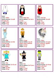 English Worksheet: Halloween Comparatives