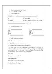 English Worksheet: Basic time words