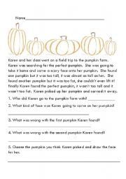 Fall comprehension stories