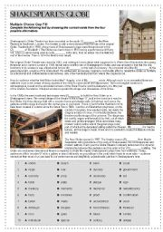 English Worksheet: Shakespeare´s Globe