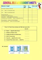 English Worksheets: EVALUATION INSTRUMENTS 6CHARTS 3PAGES