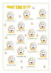 What Time Is It Esl Worksheet By Valdirene