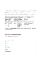 English Worksheets: homophone