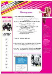 English Worksheet: Song - Dancing Queen (elementary )