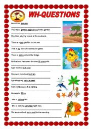 English Worksheets: Wh-questions - Elementary