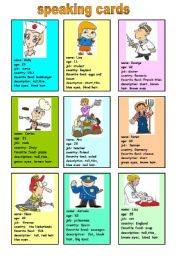English Worksheets: speaking cards