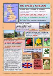 English Worksheets: THE UNITED KINGDOM (2 PAGES)