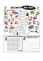 English Worksheets: Halloween Mini-Tasks