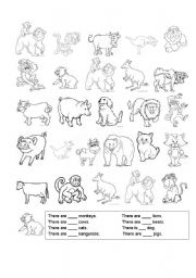 Counting Animals Worksheets Worksheets for all | Download and ...