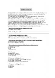 English Worksheets: beauriful day