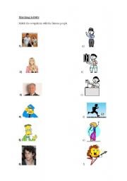 English Worksheets: Matching Activity- Occupations